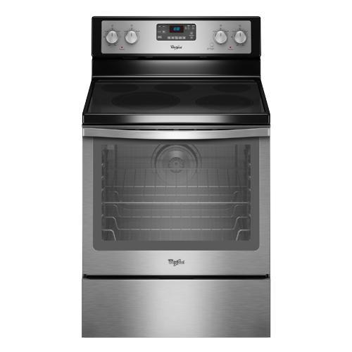 Wfe540h0es 30 Whirlpool Gl Top Electric Range Stainless