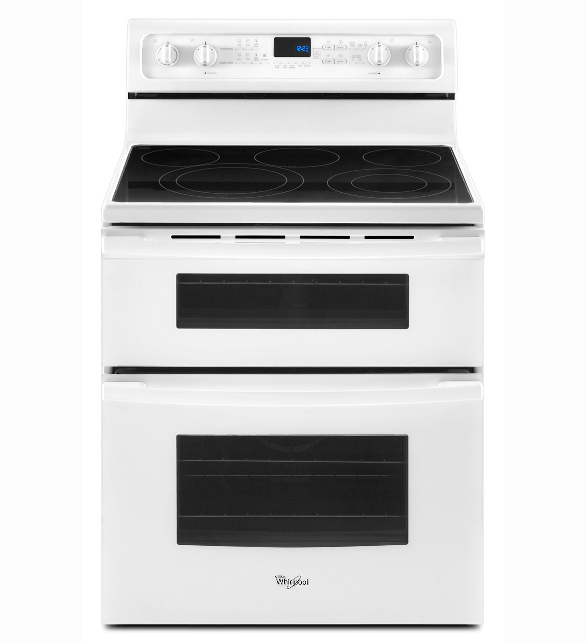 Gge390lxq Whirlpool 30 Electric Gl Top Double Oven Range White