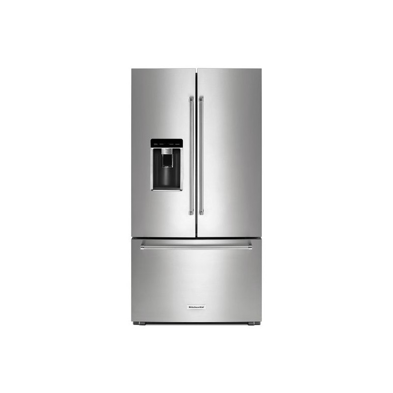 Shop Kitchenaid 23 8 Cu Ft Counter Depth French Door: KITCHENAID 23.8 CU. FT. COUNTER DEPTH FRENCH DOOR REFRIGERATOR WITH ICEMAKER