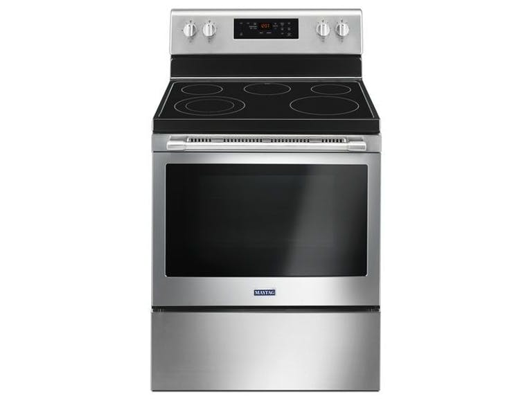 Mer6600fz Maytag 30 5 3 Cu Ft Five Burner Glass Top Electric Range Stainless