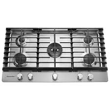 Kcgd506gss Kitchen Aid 36 5 Burner Gas Downdraft Cooktop Stainless Steel